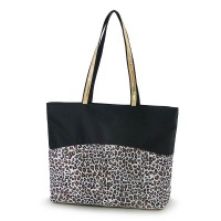 ZIP-TOP TOTE BAG - LEOPARD