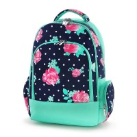 SCHOOL BACKPACK - NAVY DOTS AND PENOY
